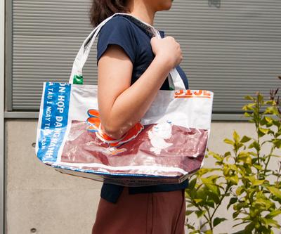 飼料袋リサイクルバッグ トート ヨコ型L