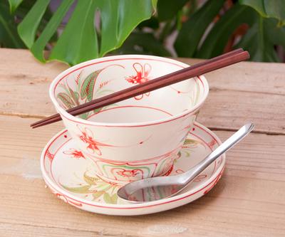 ベトナム食器 トンボ柄 丼