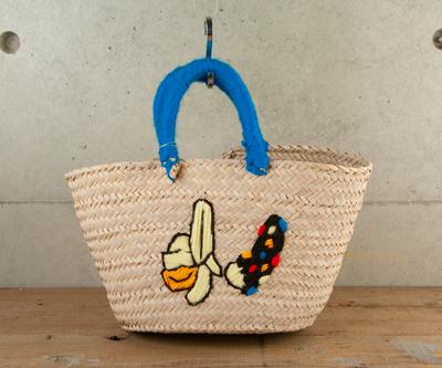チェニジア刺繍バスケット チョコバナナ