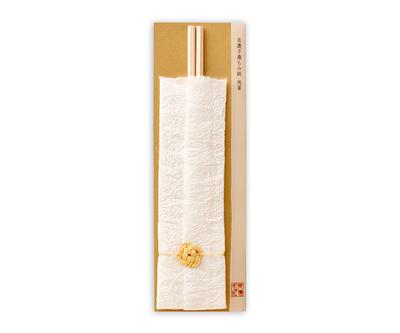 【遊ZEN】美濃手漉もみ紙 祝い箸 ゴールド