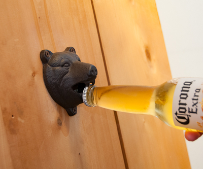 Cast Iron BearフェイスBottle opener