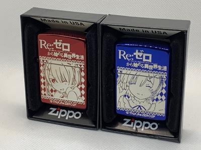 12月下旬発売予定 Re:ゼロから始める異世界生活 ラムとレムのZippo