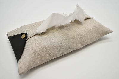 ティッシュカバー Linen-kinari
