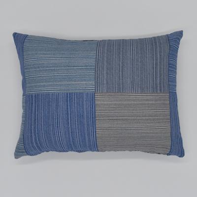 クッション4030 Lattice blue
