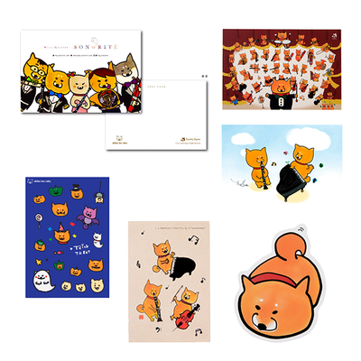 柴犬ラク ポストカード(全6種類)