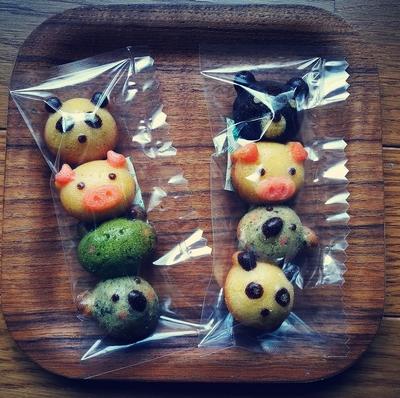 どうぶつケーキ(4個入)