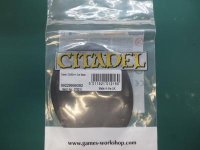 Citadel 120x92mm Oval Base(1個入)