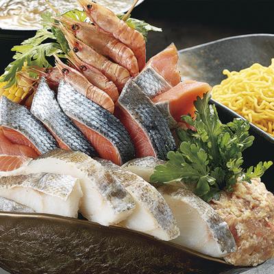 この量!!ごっつぁんです。北海海鮮ちゃんこ鍋セット