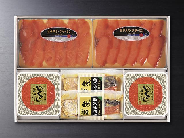 北海道産鮭スモーク、いくら、漬け魚