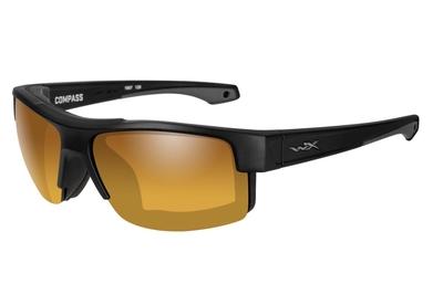 ワイリーX コンパス マットブラック ゴールドミラー偏光レンズ
