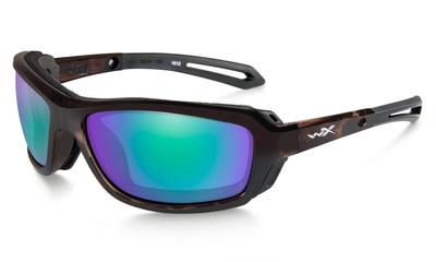 ワイリーX ウェイブ エメラルドミラー偏光レンズ