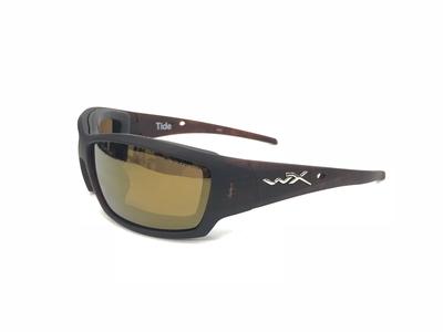 ワイリーX タイド マットヒッコリーブラウン ゴールドミラー偏光レンズ