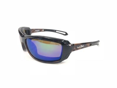 ワイリーX ウェイブ グロスデミ エメラルドミラー偏光レンズ