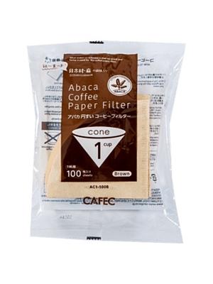 アバカ 円すいコーヒーフィルターAC1-100B:ブラウン