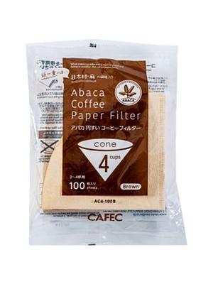 アバカ 円すいコーヒーフィルターAC4-100B:ブラウン