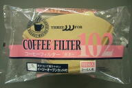 THREEFOR 耳付きコーヒーフィルターB-102:無漂白100枚