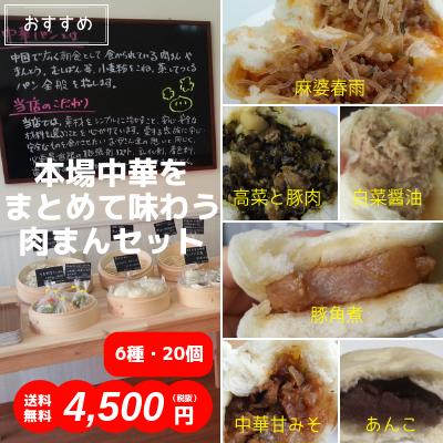 本場中華をまとめて味わう肉まんセット(6種・20個入)送料無料