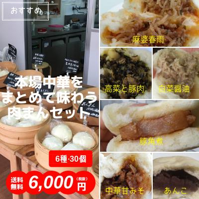 本場中華をまとめて味わう肉まんセット(6種・30個入)送料無料