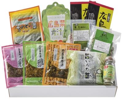 """8.広島菜漬""""いろいろ十色""""セット"""