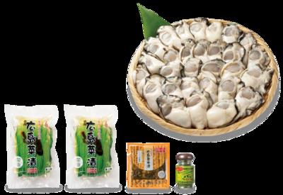 9-2 広島菜生かきと広島菜漬セット<大>