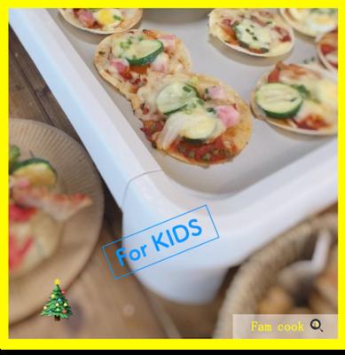 クリスマスイベント キッズピザ作り