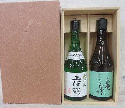 土佐鶴・亀泉 ご長寿 鶴亀酒セット 720ml×2本入