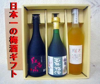 天満天神梅酒大会 歴代1位梅酒セット 3本入(ギフト贈答用)