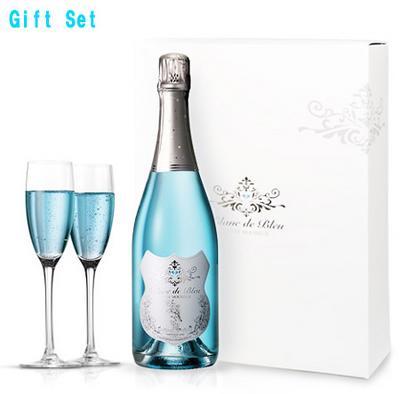 ブラン・ド・ブルー Blanc de Bleu正規品/ペアグラス付ギフトセット