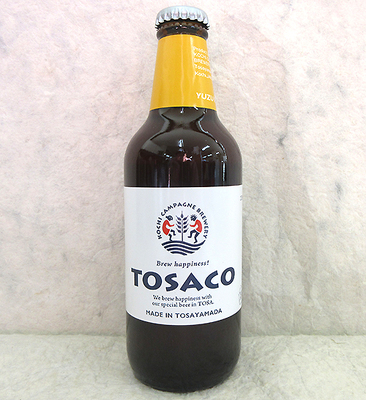 TOSACO ゆずペールエール(高知クラフトビール)330ml【クール便】