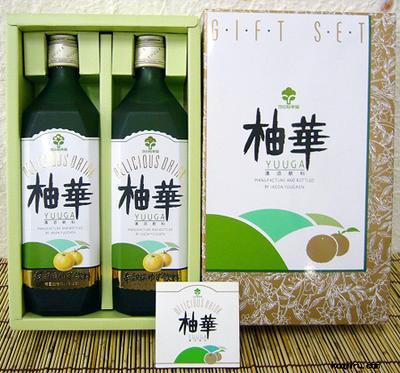池田柚華園 柚華(ゆうが) 2本セット化粧箱入り 720ml×2