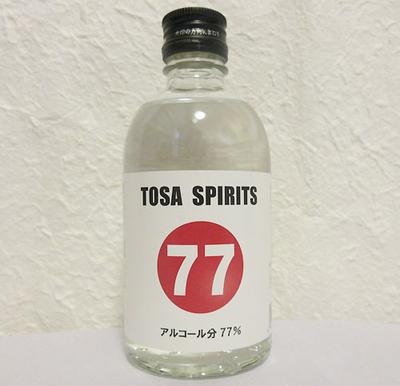 土佐鶴 TOSA SPIRITS 77(アルコール77度)300ml