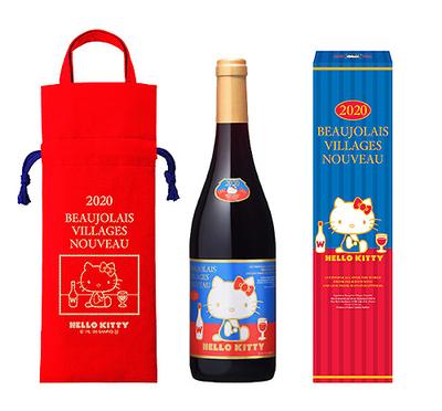 ハロー・キティ ボジョレー ヴィラージュ ヌーヴォー 2020年(赤ワイン)
