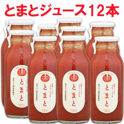 とまとジュース 小びん 180ml× 12本入 (農)宮守川上流生産組合