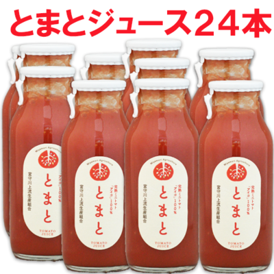 とまとジュース 小びん 180ml× 24本入 (農)宮守川上流生産組合