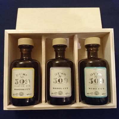 [ご贈答に最適!]BUSS N°509 Choice Cut Collection 3種 ミニボトル木箱入り