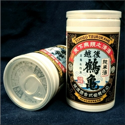 新潟県 越後鶴亀 純米酒 180ml缶カップ酒