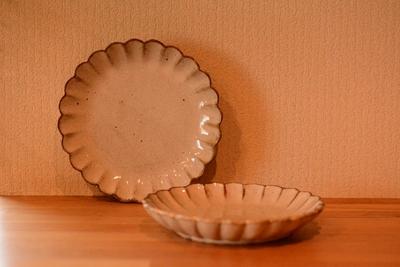 耕窯 「粉引花皿」