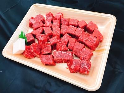 伊賀牛 【ステーキ】赤身サイコロステーキ 約500g (100g:920円)