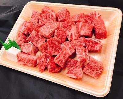 伊賀牛 【ステーキ】霜降りサイコロステーキ 約500g (100g:1,500円)