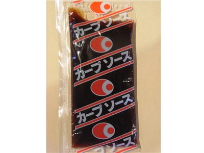 広島風お好み焼きに抜群!カープソース ミニサイズ(40g)もう少しソースが欲しい時にどうぞ!