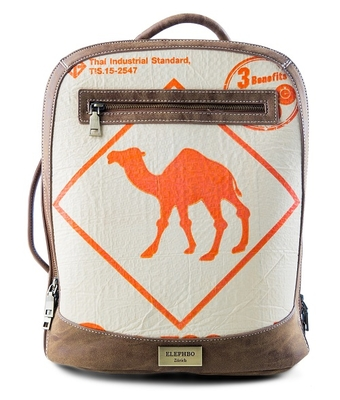Rucksack Multi Orange Camel