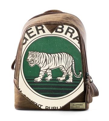 Rucksack Cutie Green Tiger