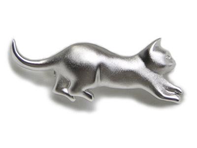 小走り猫のブローチ【送料無料】