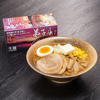 弟子屈ラーメン 味噌 生麺(1箱2食入り)