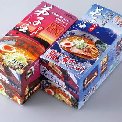 弟子屈ラーメン生麺12食〔味噌2食×3箱・魚介しぼり醤油2食×3箱〕