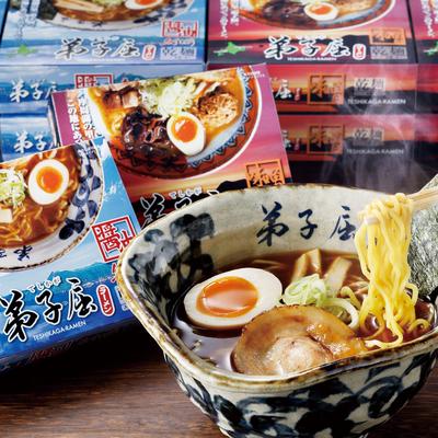 弟子屈ラーメン 乾麺12食〔味噌1食×6箱・魚介しぼり醤油1食×6箱〕