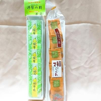 佐渡銘菓 洋梨の精 ・ 柿しぐれ