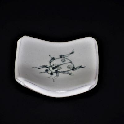 赤水窯 無名異 皿 正方形 9.5cm