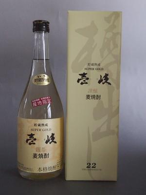 壱岐 本格麦焼酎 壱岐 SUPER GOLD22 720ml