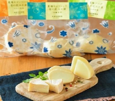 【冷蔵】【佐渡乳業】農場雪のナチュラルチーズ花みそ漬け3種セット